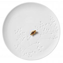 Porcelain story Bird Plate dia: 14,2cm