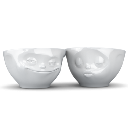Mid-sized bowls Set No 1 - grinning/kissing 200 ml