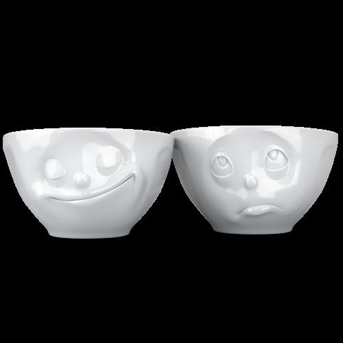 Mid-sized bowls Set No 2 - happy/Oh please 200ml