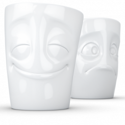 350ml Mug set no.2 - Cheery & Baffled