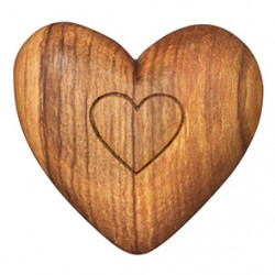 Olive wood heart Assortment 48pcs