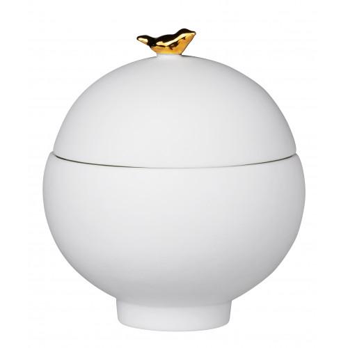 "Porcelain stories""Bird"".Can Dia: 7cm height: 8,1cm"