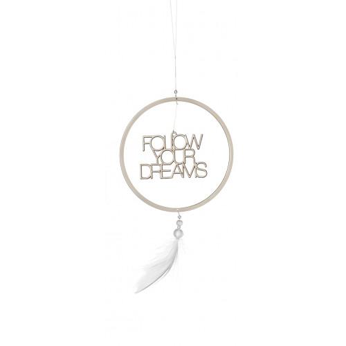 Dream catcher -follow your dreams, dia:12cm