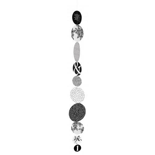 Nigra/Blanka Chain of circles large Length:100cm