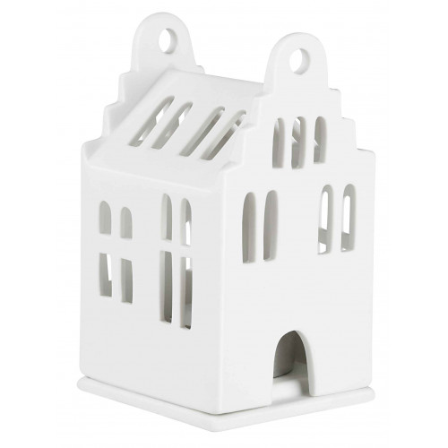 Small Lighthouse gable roof house 6x6,5x11cm