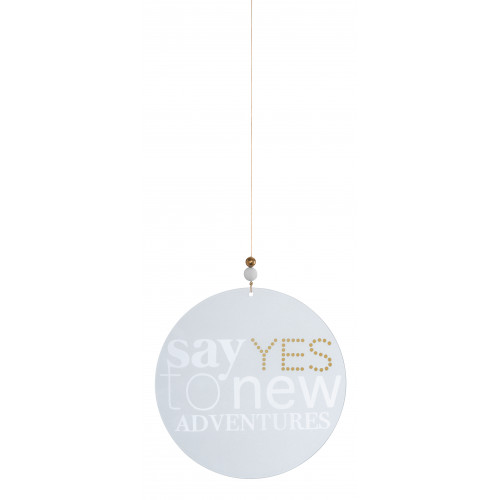 Glass poetry Say yes to new adventures dia:18cm
