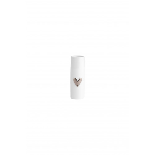 Mini vases heart Set of 2pcs silver dia:3,5cm Height:9cm