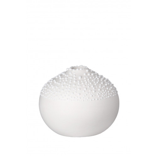 Pearl vase Design 1 white, dia:6cm Height:5cm