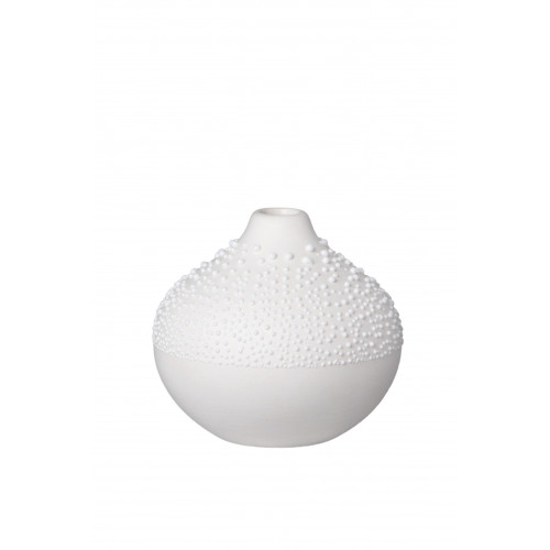 Pearl vase Design 2 white, dia:7cm Height:6,5cm
