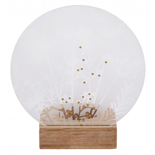 Glass poetry tealight meadow dia:12cm