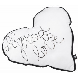 Heart cushion All you need is love 31x33cm