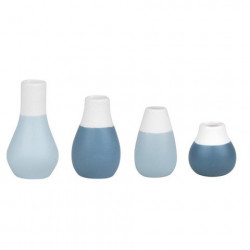 Mini Pastel Vases Set of 4pcs dia:4cm Height:4.5-8cm