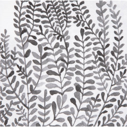 Mix & Match napkin foliage,black 33x33cm