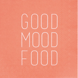 Napkin Good mood food 33x33cm