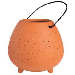 OUTDOOR terracotta lantern large, dia:11cm Height:10cm