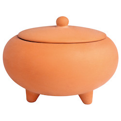 OUTDOOR terracotta scented candle dia:12cm, Height:9cm