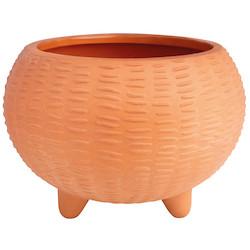 OUTDOOR terracotta pot relief dia:12cm, Height:8,5cm
