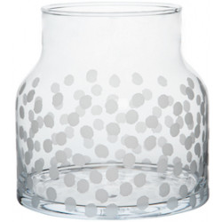 Glass vase dots Dia:18cm Height:18cm