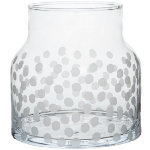 Glass vase dots Dia:18cm Height:18cm