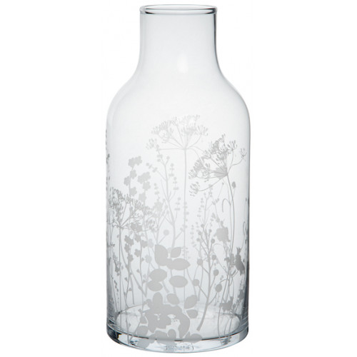 Glass vase meadow flowers Dia:13.5cm Height:30cm