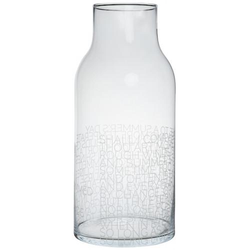 Glass vase Shakespeare
