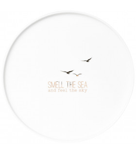 Plate large Smell the Sea D:21,5cm Height:1,5cm