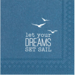 Cocktail Napkin Let your dreams 25x25cm