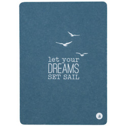 Postcard Let your dreams set sail