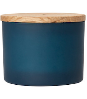 Scented candle, anchor blue, D:12cm H:6cm