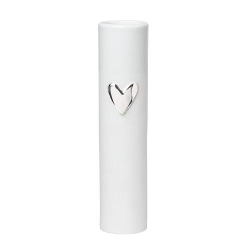 Love vase heart silver Dia:5.5cm H:17cm