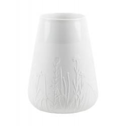 Porcelain vase floral grasses Dia:11.5-17.5cm Height:23.5cm