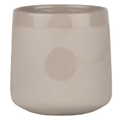 Mug circle. taupe Dia:8cm Height:8cm