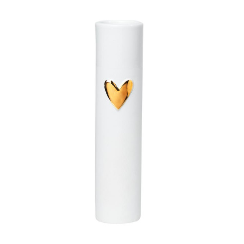 Love vases heart gold Dia:5.5cm H:17cm