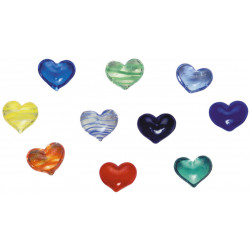 Glass hearts Assortment 150 pcs assorted