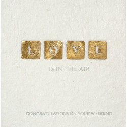Wedding greetings- Love is in the air 14x14cm