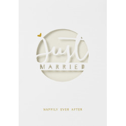 Weeding card Just married gold