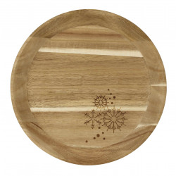 Wooden tray small stars dia:30cm Height:3.5cm