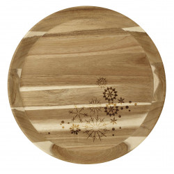 Wooden tray large stars dia:40cm Height:3.5cm