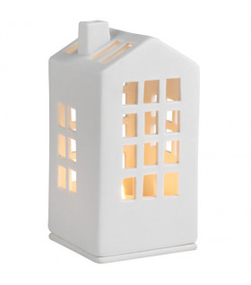 Mini light house town halle 6x6x12,5cm