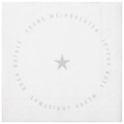 Cocktail napkin 25x25cm Merry christmas star