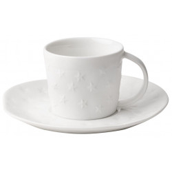 Xmas small cup with saucer Stars D:13.5cm