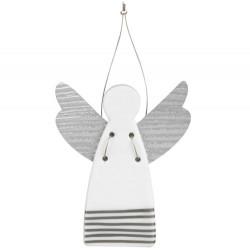 Guardian angel mini stripes silver 4,5x5,5cm