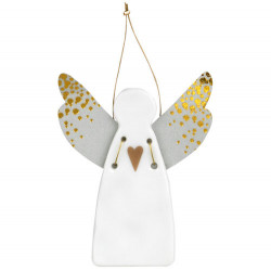 Guardian angel mini heart gold 4,5x5,5cm