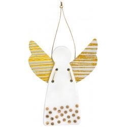 Guardian angel dots gold 6,5x9cm