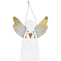 Guardian angel heart gold 6,5x9cm