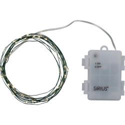 Knirke 40L w/timer, Clear/Green, 40 led's, 3xAA batteries
