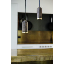 Cylinder Pendant - stained oak