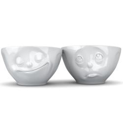 Mid-sized bowls Set No 2 - happy/Oh please 200ml