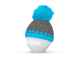 Egg cup hat grey/turquois