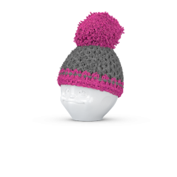Egg cup hat grey/magenta